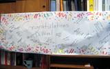banner at work when I got back