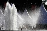 Back-lit fountain