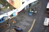 Looking down on Granville market in the morning