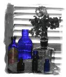 a little blue glass..