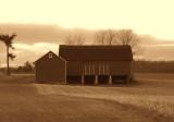 river road barn...sepia