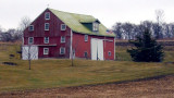 barn with many windows...