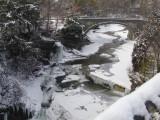 stone bridge in the snow...