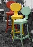 colorful stools...