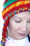 colorful hat...