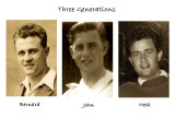 Family resemblances , grandfather, father & brother