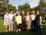 Marilyn, Bill, Vivian, Shirley, George, Maureen, Val, and Virginia