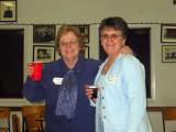 Linda and Rose toasting...