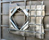 Modern Art On An Iron Gate At A Blacksmith's Yard (Golani Brigade St.).JPG