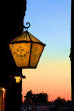 Sunset for a street lamp