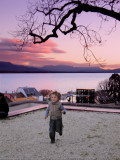The child and the sunset