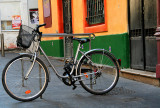 The bicycle , which felt very sorry for not being all multicoloured….