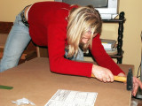 Kathy work hard