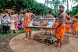 Kalua Pig recovery ceremony at a Luau