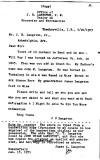J. U. Langston Letter 1903
