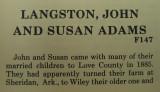 John Langston and Susan Adams
