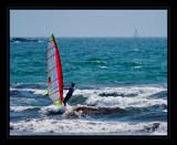 Windsurfing at Second Beach