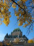 Chateau Frontenac et l'automne