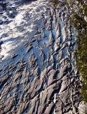les dalles presque à sec