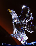 A crystal golden eagle