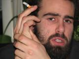 Castro smoking cigarettes