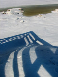 balustrade sur la chaudière glacée
