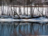 le coté américain de la rivière