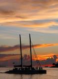 soirée sur un catamaran