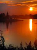lever de soleil au lac