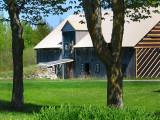 la grange sous les arbres
