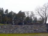 The Skogskyrkogård wall