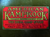 AGM No 3 Kampkook Stove Decal--1923
