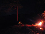 Red Buttes Camp and fire