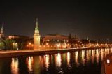 Kremlin and Moscow River at Night