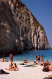 People on Shipwreck Beach, Zakynthos