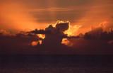 Thunderhead Cloud at Sunset, Moorea
