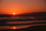Sunset over the Pacific Ocean, LA