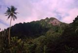Former volcanic peak and rainforests