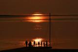 Sun Reflections at Burnham on Sea