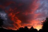 Orange clouds over Yorkshire