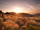 Walking into the sunset, near Bigbear