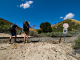 crossing the tracks in soledad canyon