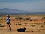 Nathalie in the Mojave Desert
