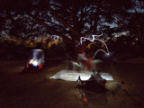 Setting up tents in the dark (long exposure)