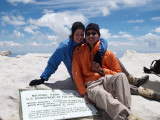 Nathalie and Aaron at the Summit of Whitney
