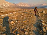 Zack climbing into Upper Basin
