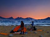 camp setup at Upper Basin