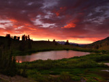 P7304172 Amazing Sunset over Nobel Lake (North Sierras), CA