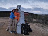 Nathalie and I at the southern terminus