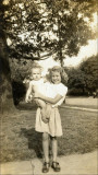 Dot Warner and Ann Laws (infant)